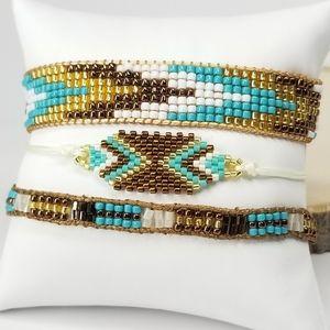 NEW Handmade Miyuki Seed Beads 3 pcs Set Bracelet